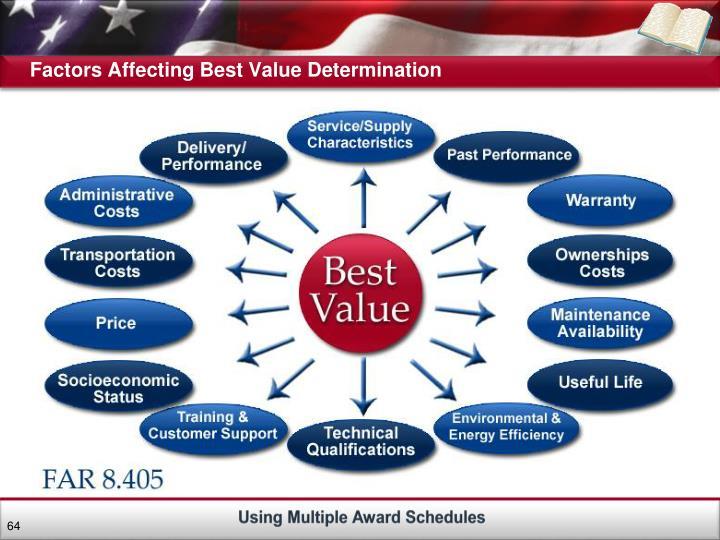 Factors Affecting Best Value Determination