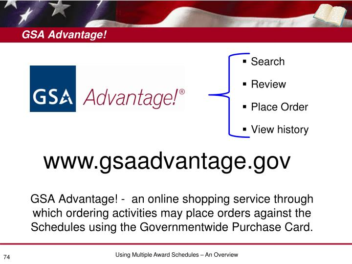 GSA Advantage!