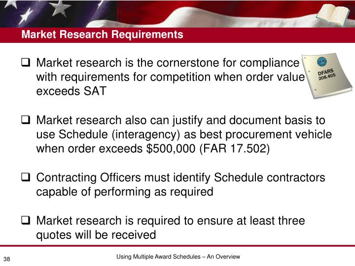 Market Research Requirements