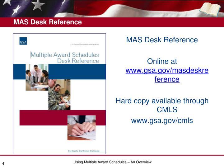 MAS Desk Reference