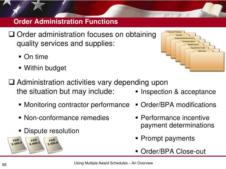 Order Administration Functions