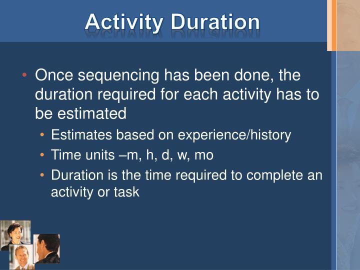 Activity Duration