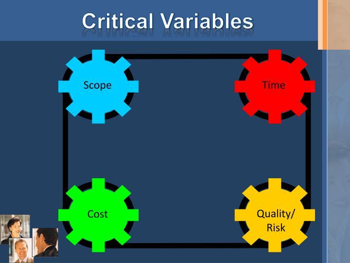 Critical Variables