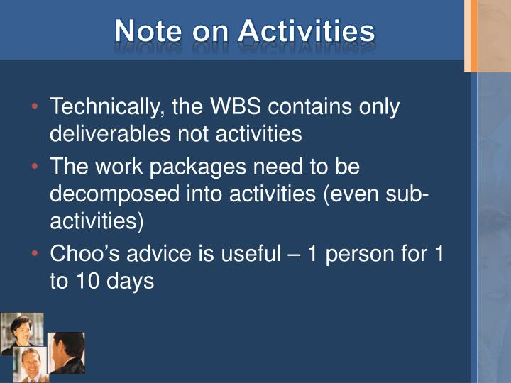 Note on Activities