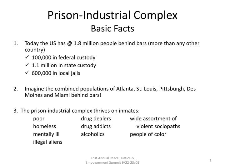 Prison industrial complex basic facts