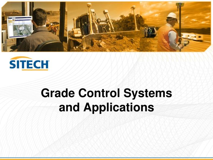 grade control systems and applications n.