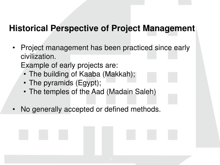 Historical Perspective of Project Management