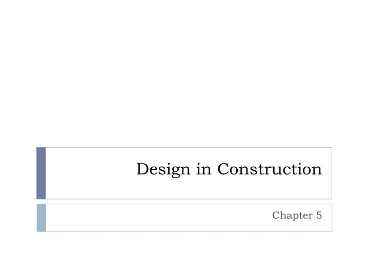 design in construction n.