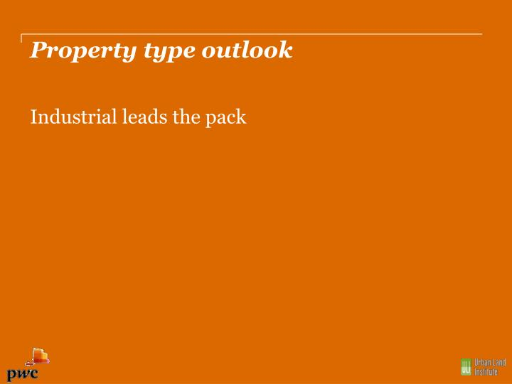 Property type outlook
