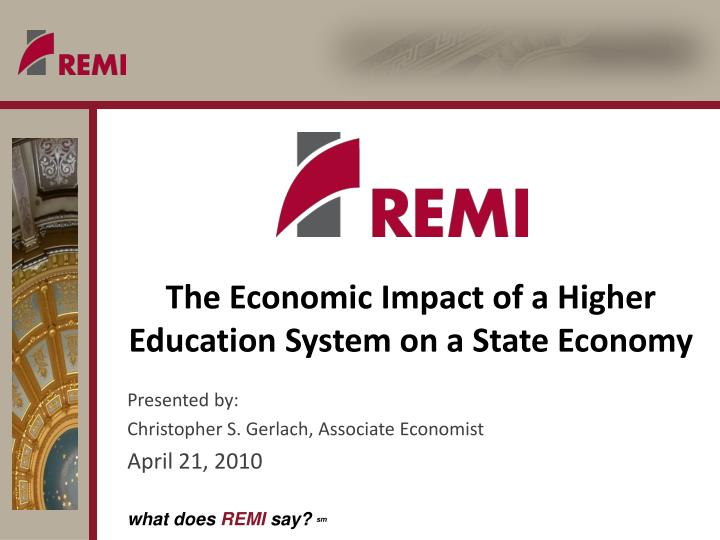 the economic impact of a higher education system on a state economy n.