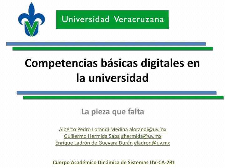 Competencias b sicas digitales en la universidad