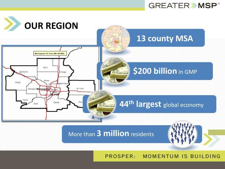 13 county MSA