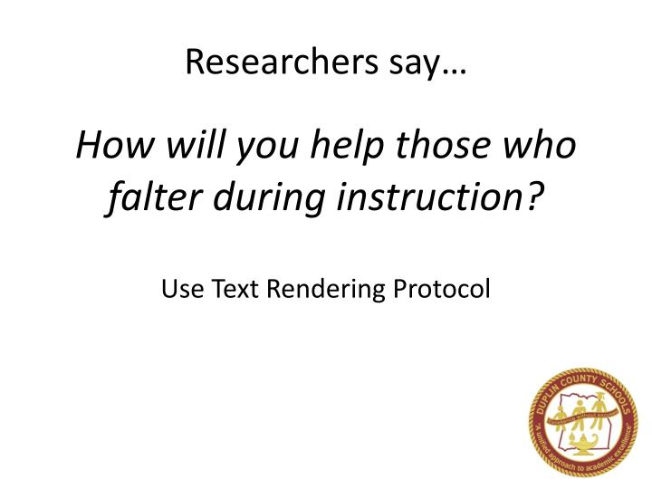 Researchers say…