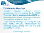 vocabularies mappings