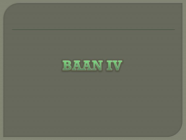 BAAN IV
