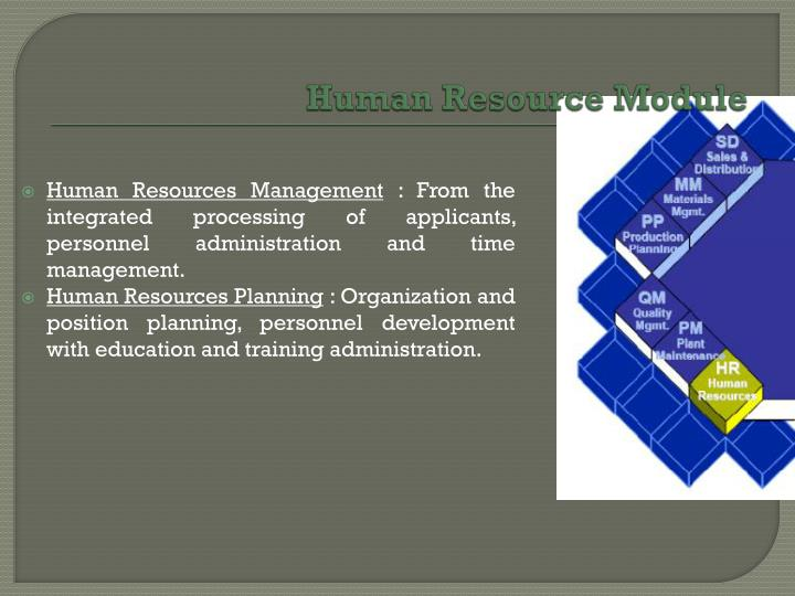 Human Resource Module
