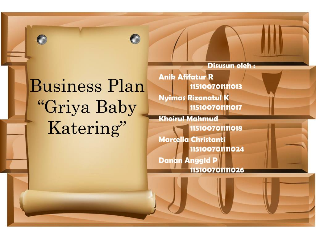 Ppt Business Plan Griya Baby Katering Powerpoint Presentation