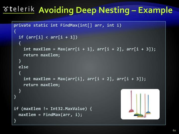Avoiding Deep Nesting – Example
