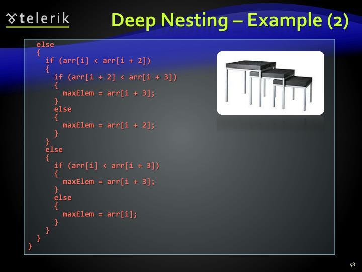 Deep Nesting – Example (2)