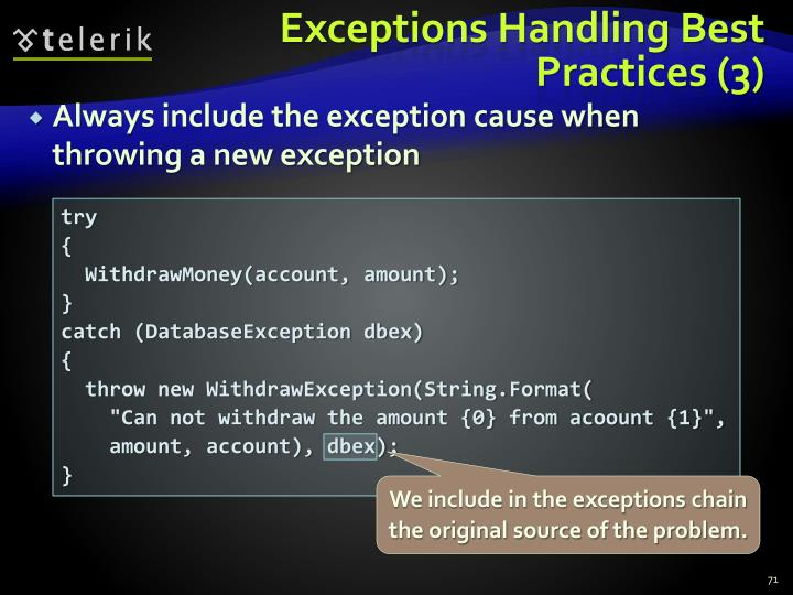 Exceptions Handling Best Practices (3)