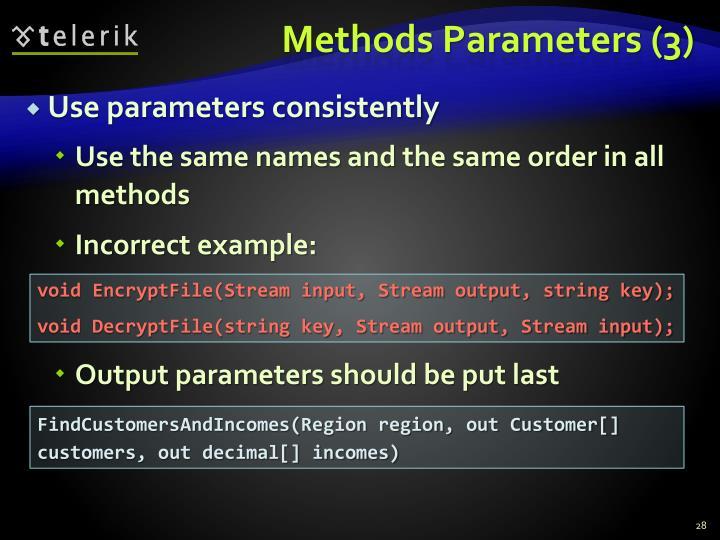 Methods Parameters (3)