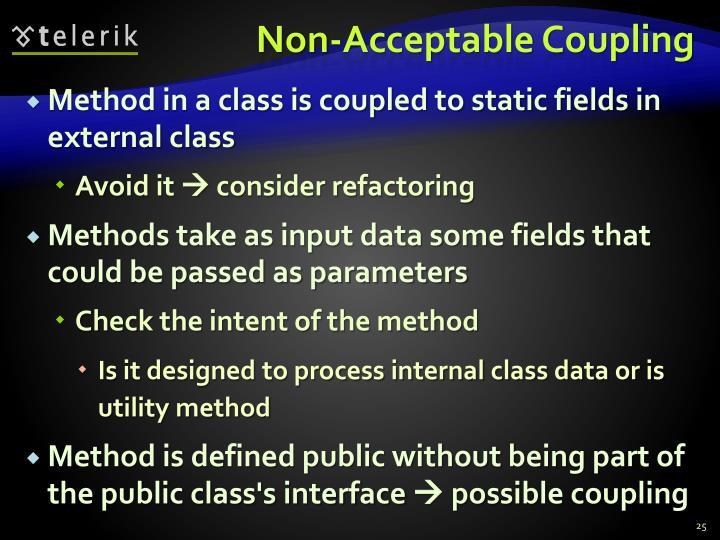 Non-Acceptable Coupling