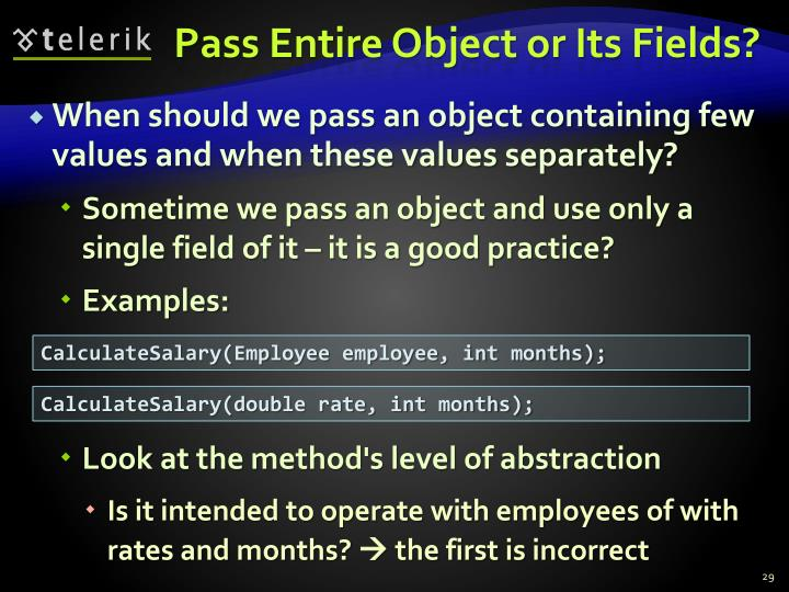 Pass Entire Object or Its Fields?