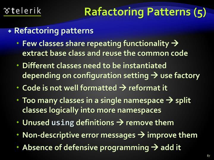 Rafactoring Patterns (5)