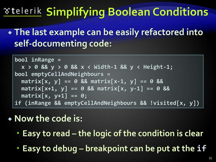 Simplifying Boolean Conditions