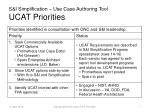 s i simplification use case authoring tool ucat priorities