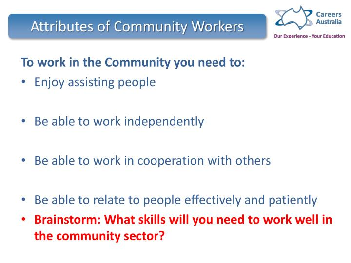 Attributes of Community Workers