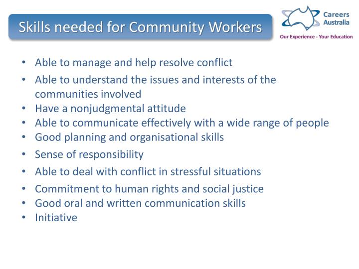 Skills needed for Community Workers