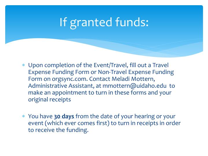 If granted funds: