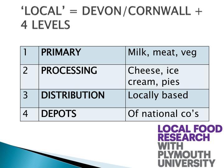 Local devon cornwall 4 levels