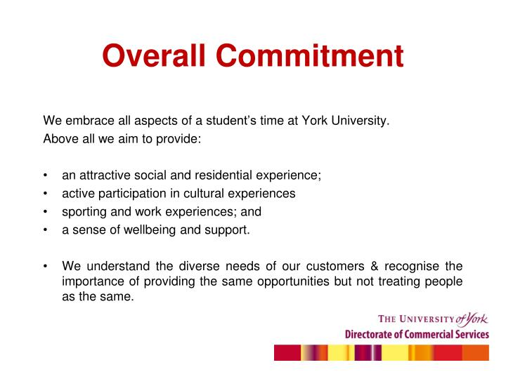 Overall commitment