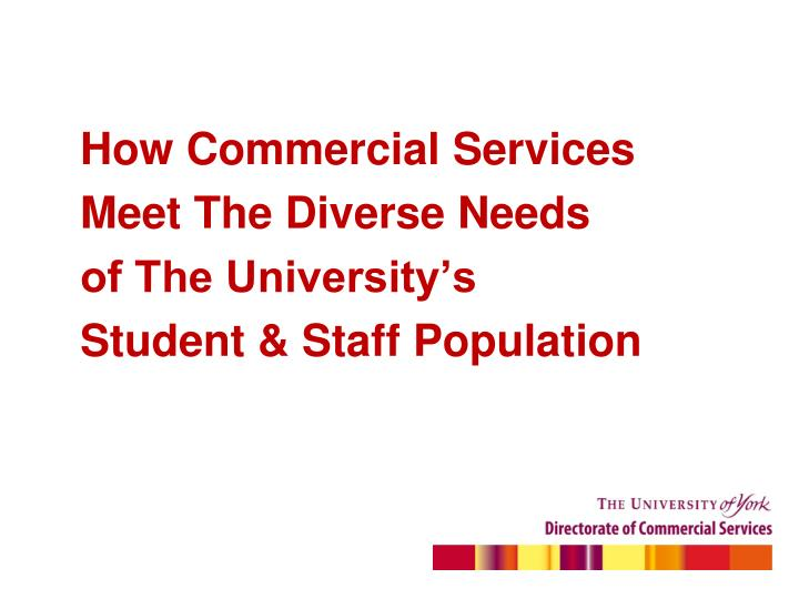 How Commercial Services