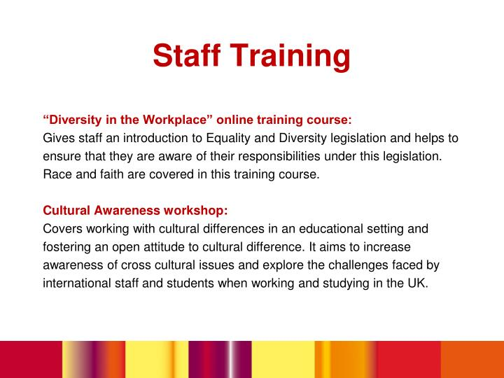 """""""Diversity in the Workplace"""" online training course:"""