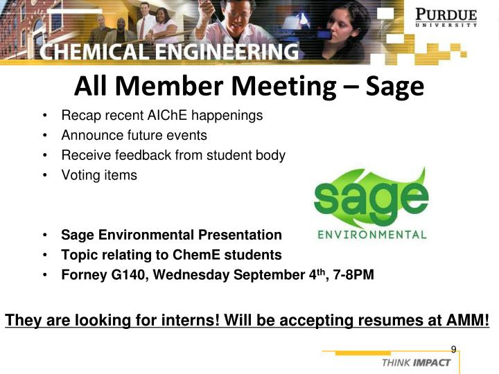 All Member Meeting – Sage
