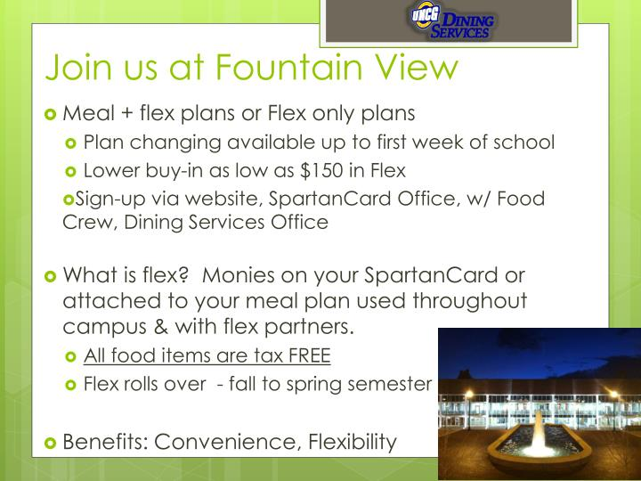 Join us at Fountain View
