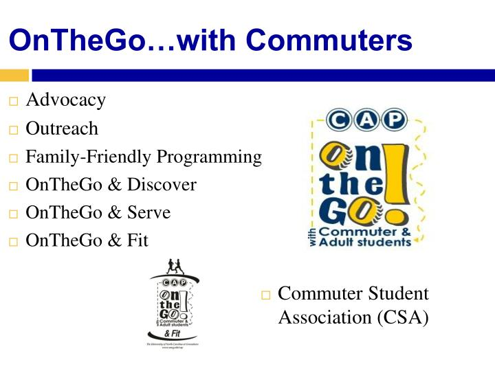 OnTheGo…with Commuters