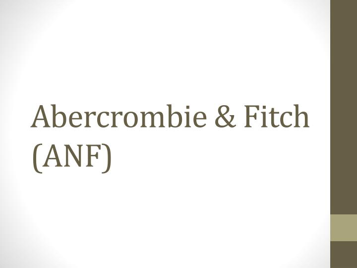 Abercrombie fitch anf