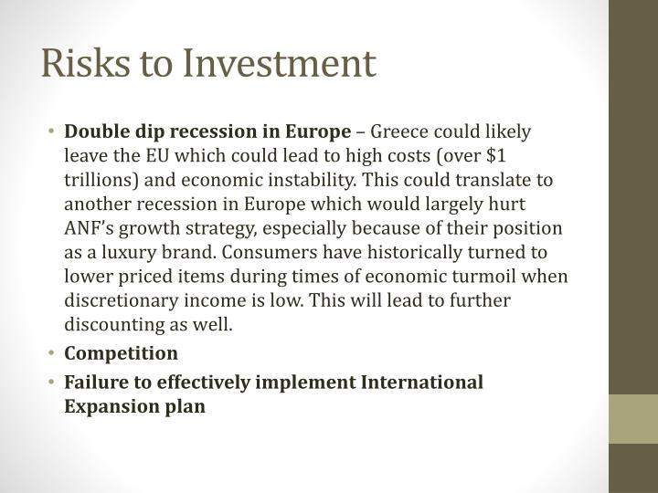 Risks to Investment