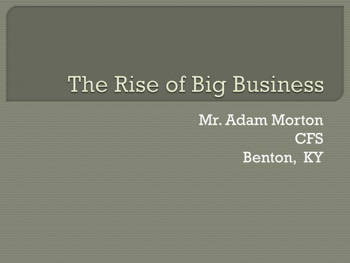 the rise of big business n.