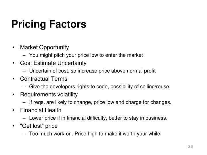 Pricing Factors