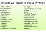 what do we learn in technical writing
