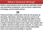 what s technical writing
