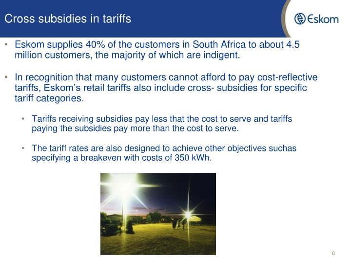 Cross subsidies in tariffs