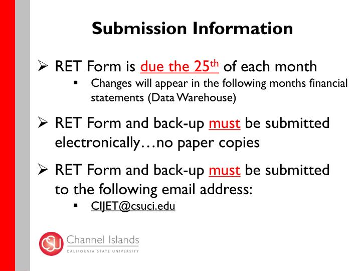 Submission Information