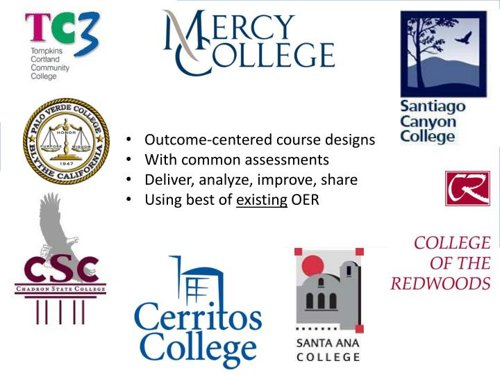 Outcome-centered course designs