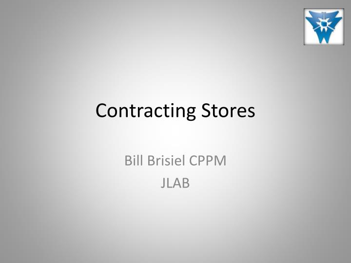 contracting stores n.